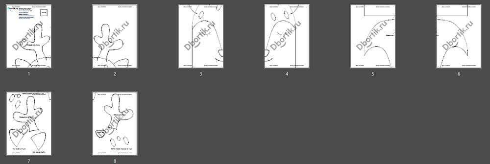Обзор выкройки бортика подушки Олень