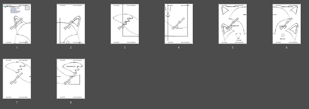 Обзор выкройки бортика подушки Лиса