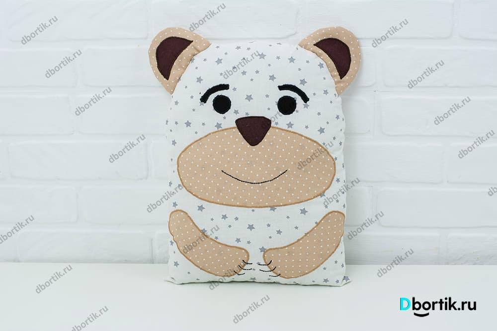 Выкройка подушки медведь на бортики детской кроватки