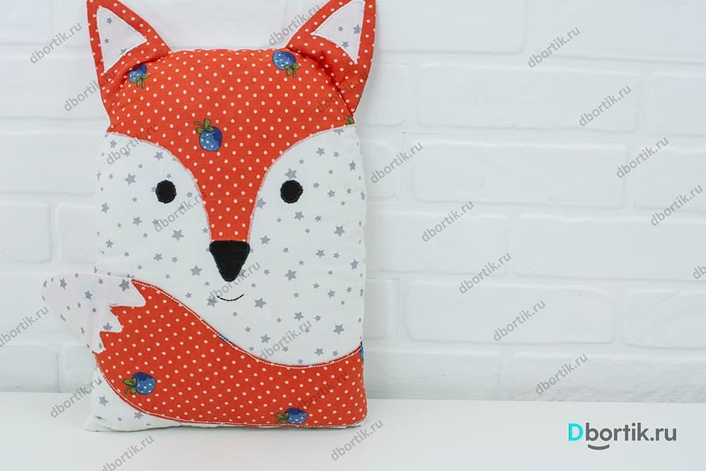 Выкройка бортика (подушки) Лиса, для детской кроватки малыша.