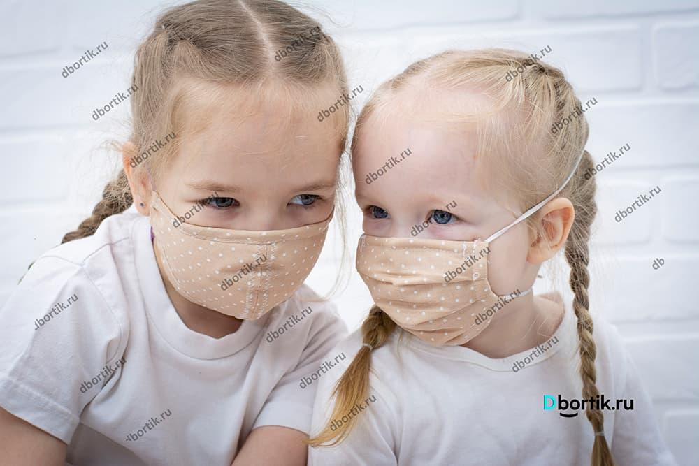 Защитная маска на ребенка