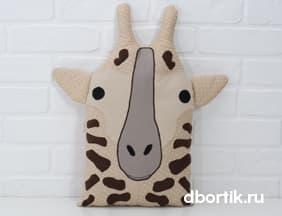 Выкройка подушки бортика Жирафа