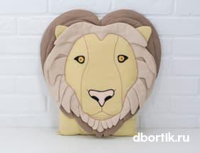 Выкройка бортика подушки Лев