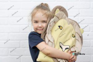 Подушка бортик Лев и Ребенок