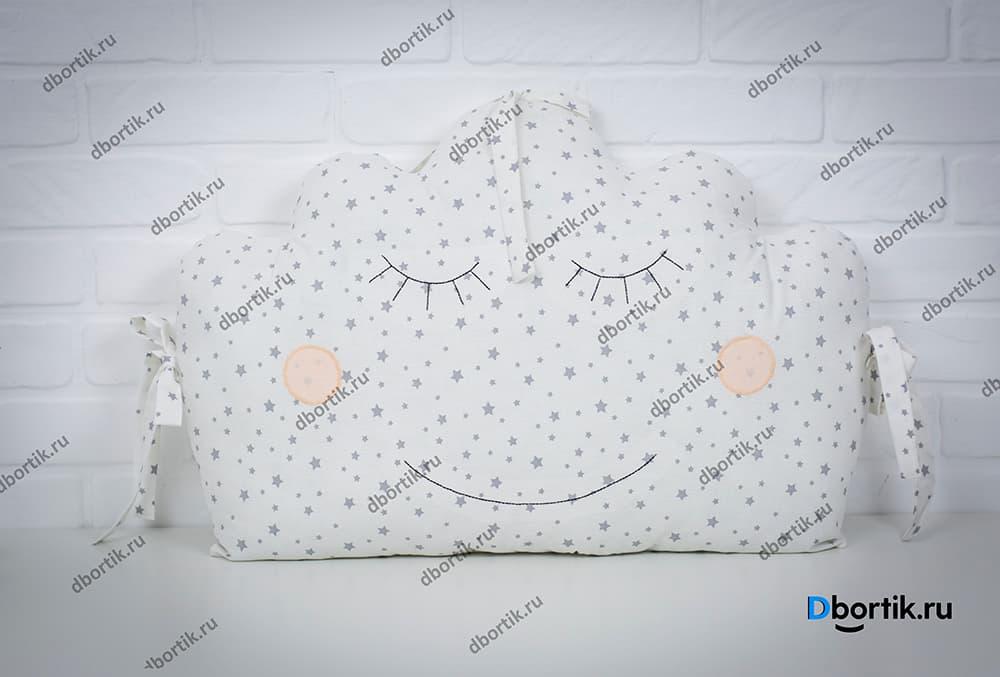 Выкройка бортика подушки Облачко 1