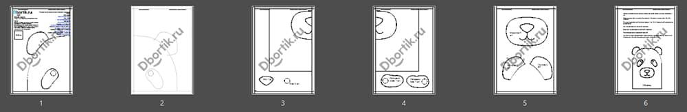 Обзор выкройки бортика подушки Панда 1