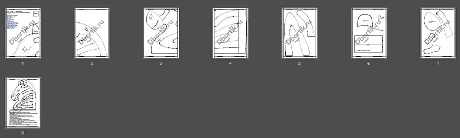Обзор выкройки бортика подушки Зебра 2