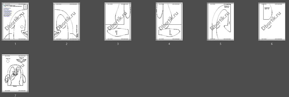 Обзор выкройки на бортики детской кроватки Пингвин