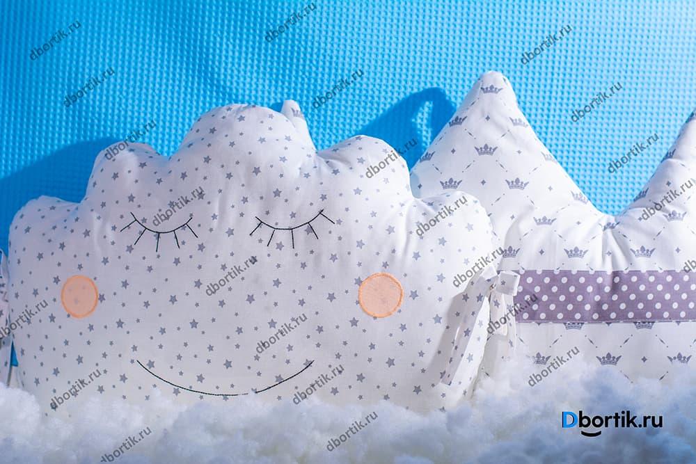 Мастер-класс по пошиву бортиков подушек Короны и Облачка