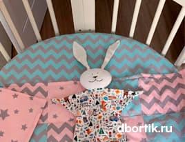 Мастер-класс по пошиву круглой простыни на резинке в детскую кроватку на матрас