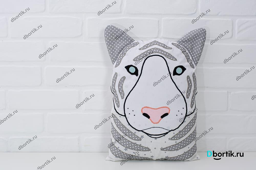 Выкройка бортика подушки Тигр