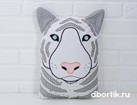 Выкройка подушки Тигр