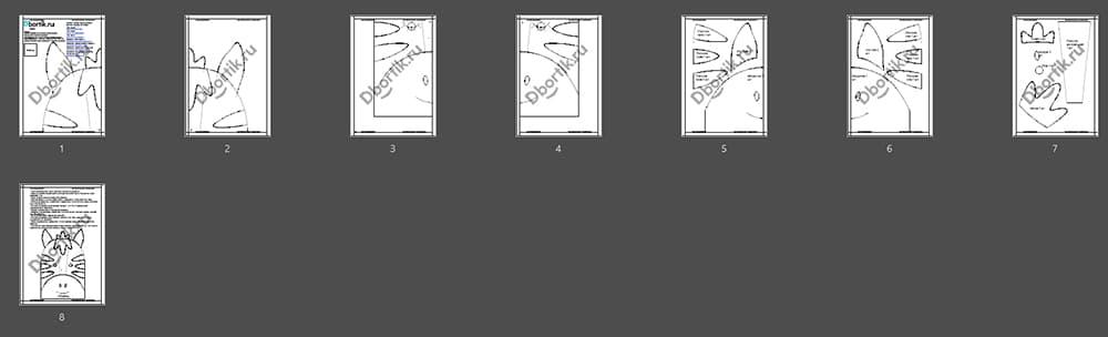 Обзор выкройки бортика подушки Зебра 1