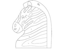 Выкройка бортика подушки Зебра 3