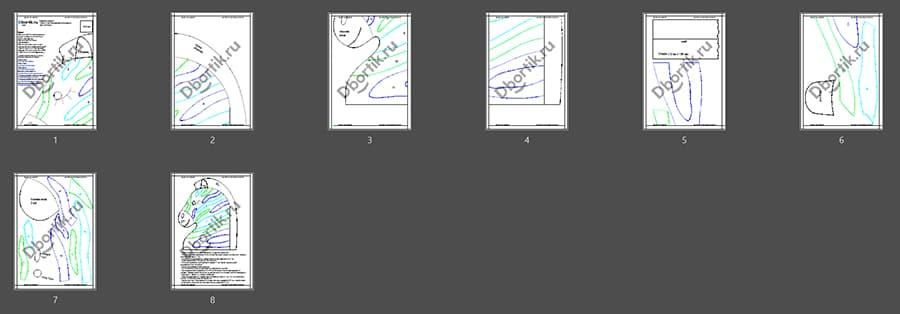 Выкройки бортика подушки Зебра 3, цветной контур