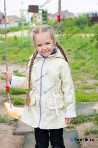 Детская куртка парка, вид спереди