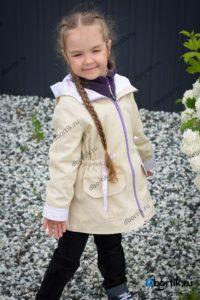 Детская куртка парка, вид спереди, рукав
