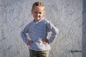 Детская кофта пуловер, рукава