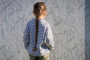 Детская кофта пуловер, вид сзади, общий план