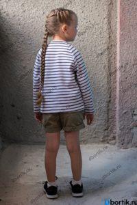 Детская кофта, пуловер. Вид сбоку