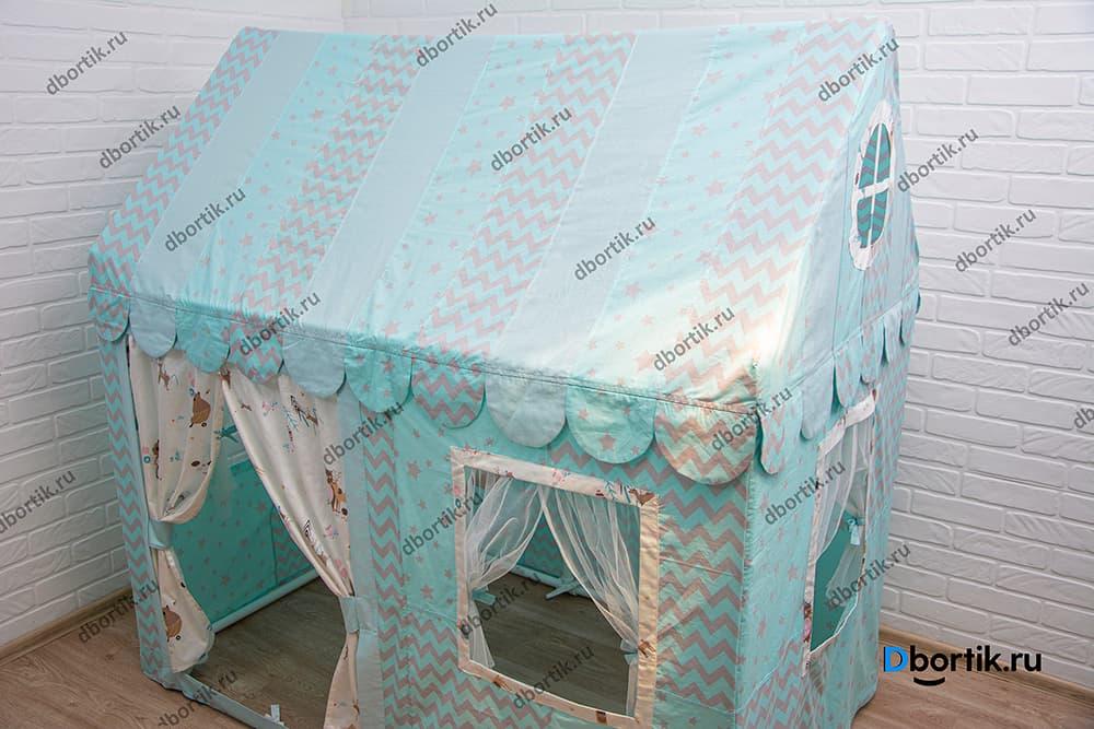 Домик для детей в детскую комнату из ткани из пвх труб