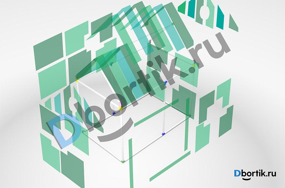Детали выкройки игрового домика из отрезов ткани