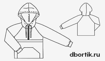 Выкройка ветровки анорак на ребенка