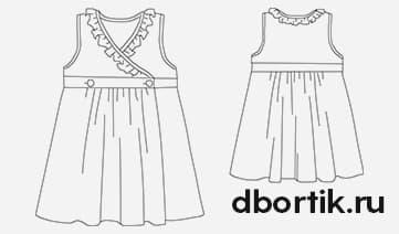 Выкройка детского платья на запах