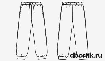 Выкройка детских спортивных штанов