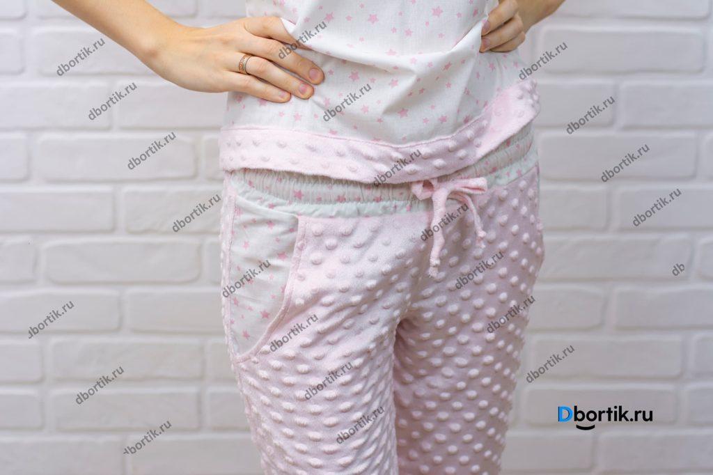 Женские пижамные штаны. Притачной пояс.