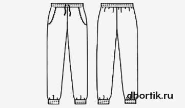Выкройка женских пижамных штанов