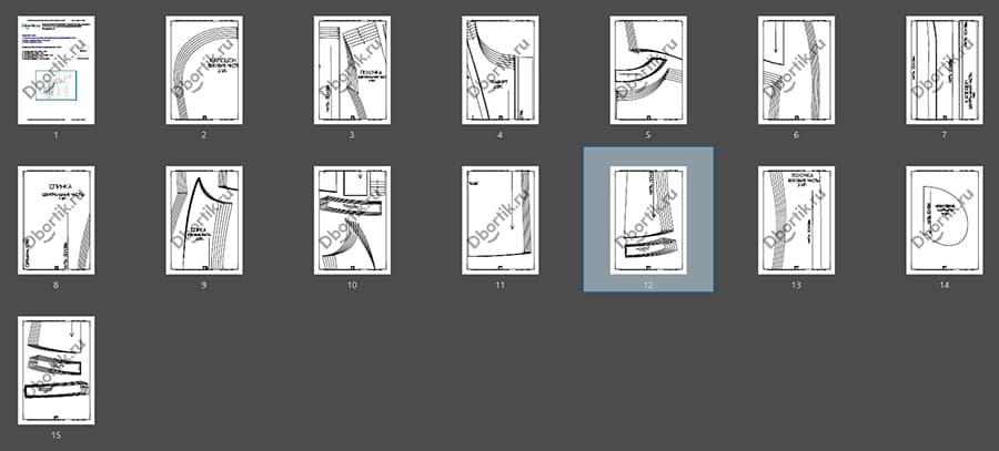 Обзор выкройки женской утеплённой жилетки. Детали из подкладочной ткани. Выкройка 2 часть.
