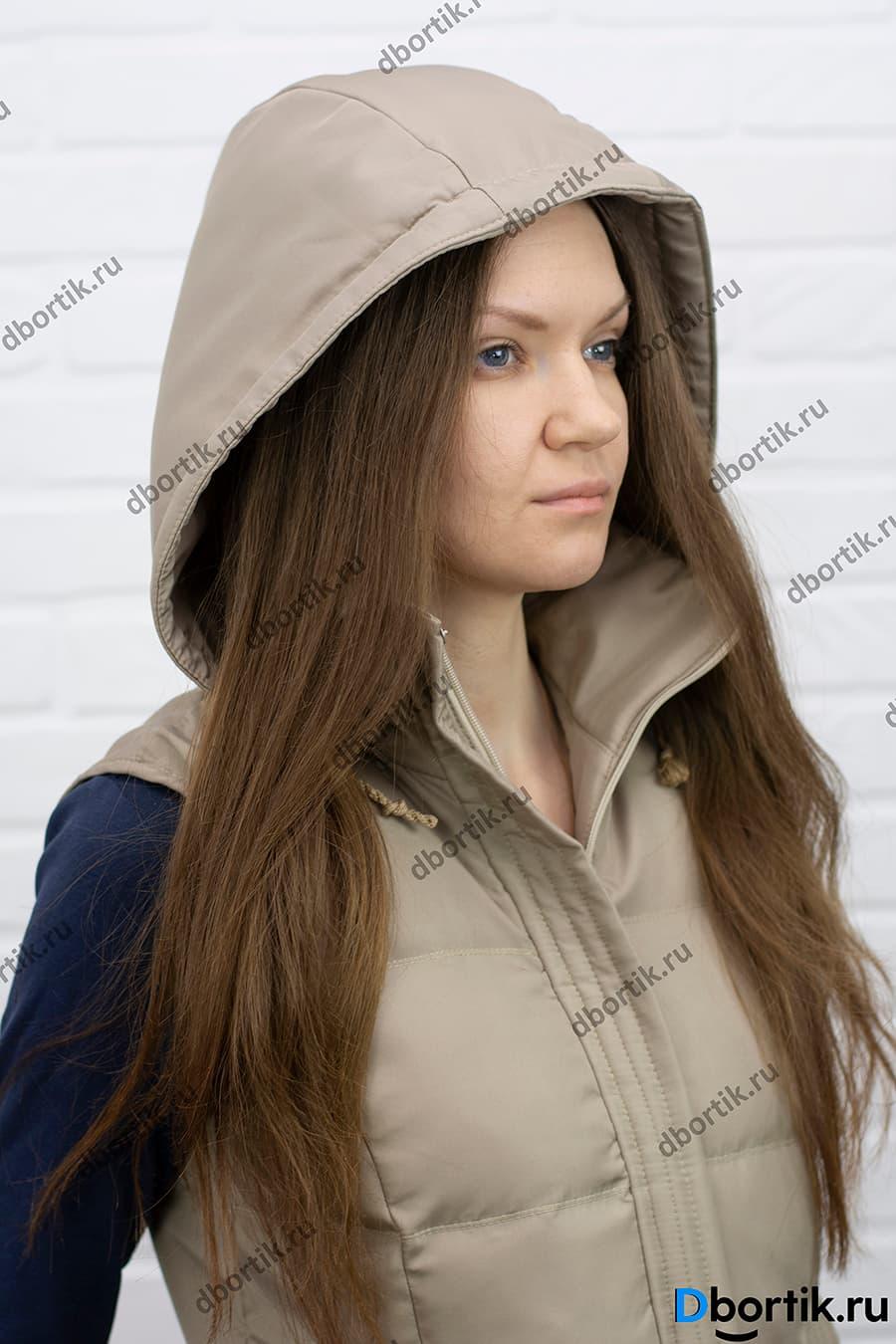 Мастер-класс по пошиву женской утеплённой жилетки с капюшоном.