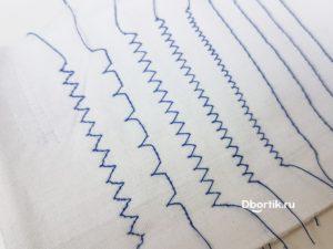 Виды строчек, операций на швейной машине Comfort 6