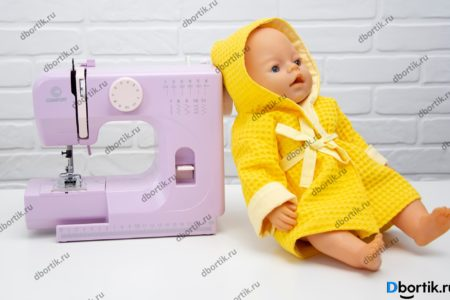 Кукла в желтом халате из вафельного полотна. Мастер-класс по пошиву.