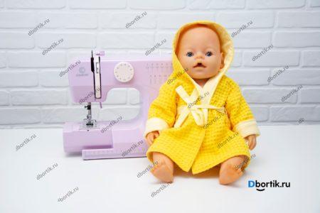 Швенйая машина и кукла в халате. Мастер-класс по пошиву.
