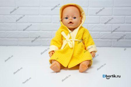 Куклу в желтом халате с капюшоном. Мастер-класс по пошиву.