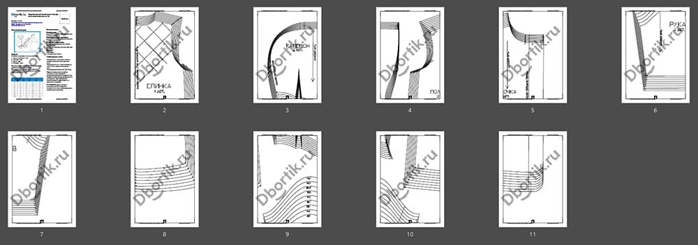 Обзор выкройки для пошива лёгкой детской куртки
