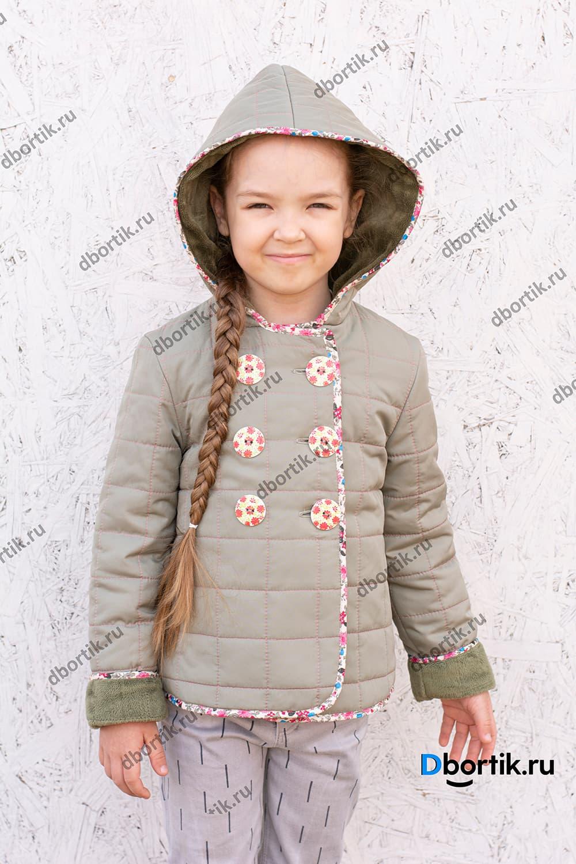 Детская лёгкая куртка, готовый вид, сшита по выкройке.