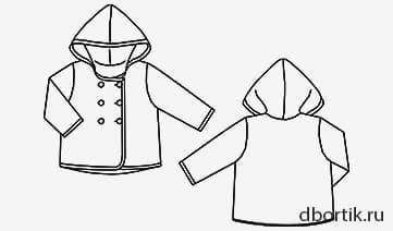 Выкройка детской лёгкой куртки