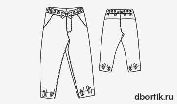 Выкройка детских джинс джоггеров