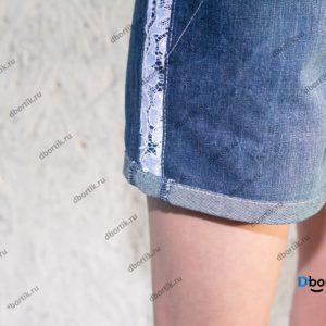 Обработка низа шорт, кружевная вставка. Шорты в готовом виде после пошива на девочку подростка.