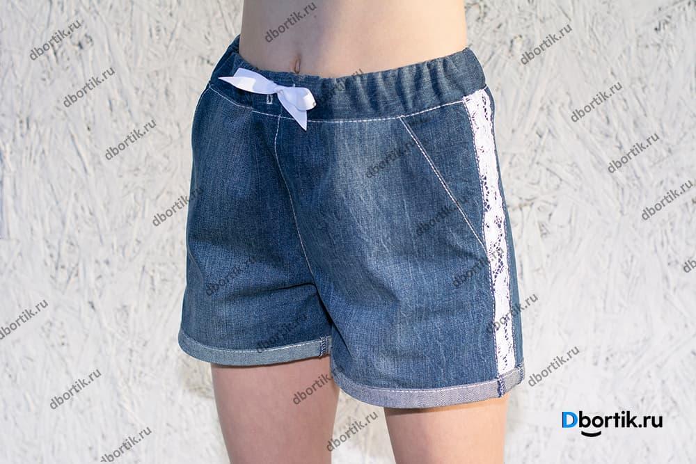 Мастер-класс по пошиву шорт на девочку подростка. Шорты в готовом виде после пошива.