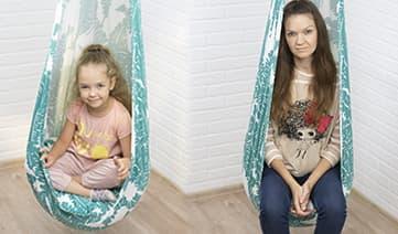 Мастер-класс по пошиву подвесных качелей кокон на взрослого и ребенка